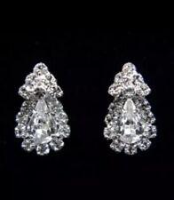 Cristal Estrás Brillante Gran estrella Diamante Pendientes de Plata de larga caída de moda