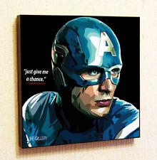 Captain America Marvel DC Comics decals Decor Print Wall Art Poster pop Canvas