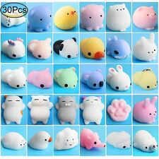 30Pcs Mini Animal Squishies Kawaii Mochi Squeeze Stress Toys Soft Squishy Gifts
