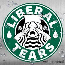 Crying Liberal Tears Starbucks Parody Sticker Set of 3 High Quality WeatherProof
