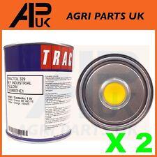 2 Litre Ltr Tin Massey Ferguson MF Industrial Yellow Paint Tractol Digger 50