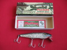 "Rare Vintage Pflueger Mustang 5"" Wood 9503 Fishing Lure - New in Box"