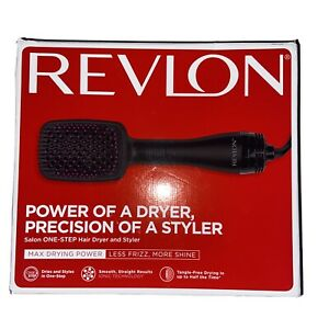Revlon Hair Dryer And Volumizer Hot Air Brush One Step Black and Pink