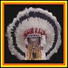 "Genuine Native American Navajo 36"" Indian Headdress SILVER SHADOW Black & White"