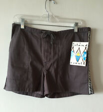 Island Soul Shorts Drawstring Hibiscus Size 9 NWT