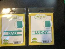 New listing Two Taylored Expressions Block Party Die Sets~Lucky and Dad~Nip