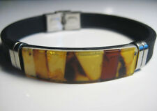 Baltic Amber Bracelet for Men's with leather strap