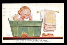 Comic Children child in bath artist MABEL LUCIE ATTWELL drawn 1928 PPC