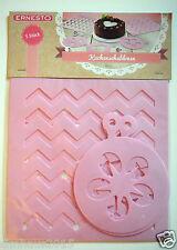 kuchenschablonen Cucina modelli accessori-cottura DECORARE 5 pezzi rosa NUOVO
