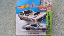 Hot Wheels 2015 # 213/250 1968 Hemi Barracuda PLATA HW WORKSHOP