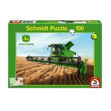 Schmidt John Deere Mähdrescher S690 Puzzle mit 100 Teilen, ab 6 Jahren