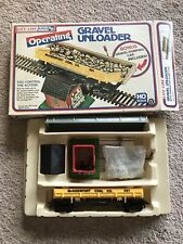 New Vintage Life-Like Ho Scale Gravel Unloader With Operating Dump Car Train Toy