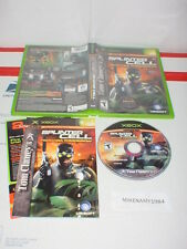 TOM CLANCY'S SPLINTER CELL: PANDORA TOMORROW game complete  for Microsoft XBOX