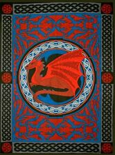 Celtic DragonTapestry Medieval Creature Banner Wall Hanging Decor #57463