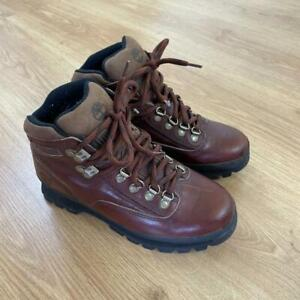 Timberland Brown Leather Classic Hiking Walking Boots US 6.5M UK 4.5 Euro Hiker