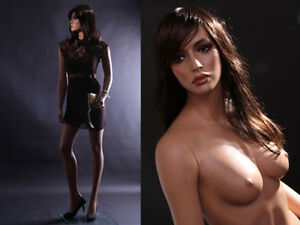 Female Fiberglass Mannequin Beautiful Face with elegant pose Style #MZ-LISA8