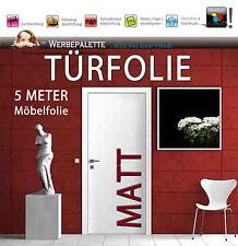 4,74 €/m²) 5 M x 105 cm Türfolie Matt Deko Plotterfolie + weiß + Preis TiP