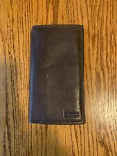 Fossil Brown Leather Checkbook Wallet Soft And Luxurious