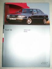 Audi S6 Saloon & Estate range brochure Aug 1994