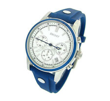 NEW DKNY CHRONOGRAPH BLUE RUBBER 50M LADIES WATCH NY8173