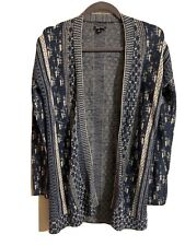 Lucky Brand Long Cardigan Blue Sweater Small
