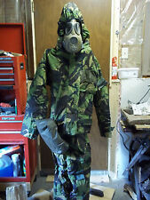 military surplus gas mask and NBC suit