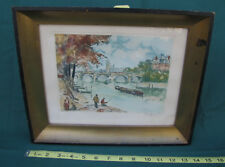 VINTAGE CHARLES BLONDIN FRENCH ARTIST WATER COLOR PRINT SIGNED AND NUMBERED