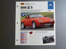 "1989 - 1992 BMW Z1 Roadster IMP ""Hot Cars"" Spec Sheet Folder Brochure #3-31 L@@K"