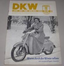 DKW Praxis Heft Auto Union DKW Warm durch den Winter rollern Roller 02/1956!