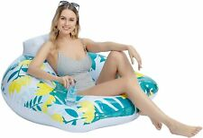 Inflatable Foldable Floating Lounger Float Chair Beach Swimming Pool Raft Water