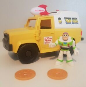 Imaginext Toy Story Pizza Planet Delivery Truck Playset With Buzz Lightyear
