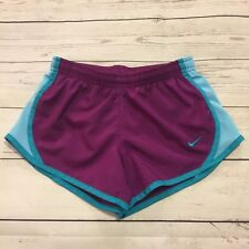 Nike Women's Size XSMALL XS Purple and Blue Dri Fit Running Shorts w/ Liner #14