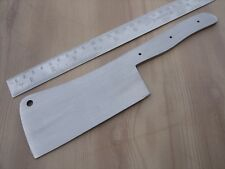 "9.50"" custom made choper spring steel special design hunting knife blank blade"