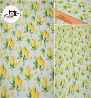 Premium 100% Printed Cotton Craft Lemon Print High Quality 150 cm wide