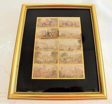 ANTIQUE VICTORIAN FRAMED BAXTER NEEDLE BOX PRINTS - THE REGAL SET VICTORIA c1860