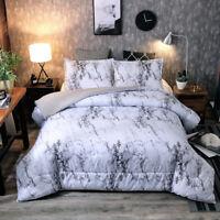 Ultra Soft Down Alternative Marble Comforter Set Gray Pillow Shams Queen/King