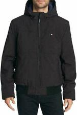 Tommy Hilfiger Hooded Soft-Shell Bomber Jacket Black Mens...