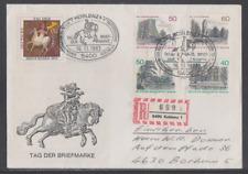 Deutschland 1983 Reco-Sonderbeleg  mit Sonderstempel Tag der Briefmarke Koblenz