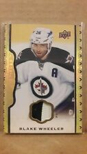 14/15 UD Masterpieces Blake Wheeler Black Leather Leather Patch #d/35