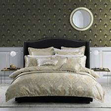 Davinci Castille Gold Queen Bed Size Duvet Doona Quilt Cover Set