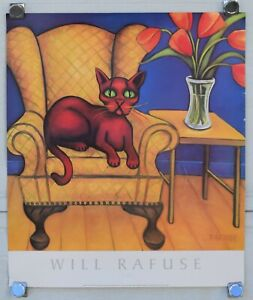 WILL RAFUSE CAT PRINT POSTER