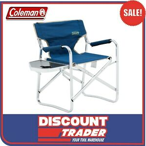 Coleman Flat Fold Director's Plus Outdoor / Camping Chair Blue - 1218391