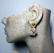Auth Versace Vintage Medusa Crystal Pave Butterfly Earrings ~ My Poupette RS