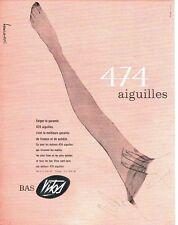 Publicité Advertising  0817  1962  les bas Vitos  474 aiguilles
