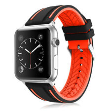 Silicone Replacement Sports Strap Band for Apple Watch Series 4 /3 / 2 / 1