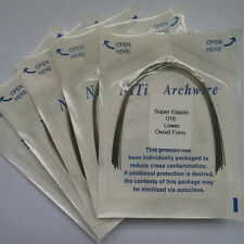 Dental Orthodontic Super Elastic Niti Arch Wires Round Ovoid Form 50 Packs Tooth