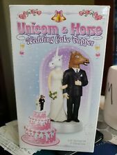 Unicorn and Horse Bride & Groom Unique Wedding Cake Topper!