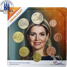 Niederlande 3,88 Euro 2016 Stgl. KMS 1 Cent bis 2 Euro Oranje Set im Blister