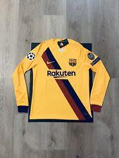 Leo Messi Soccer Jersey Long Sleeve Barcelona Away Large