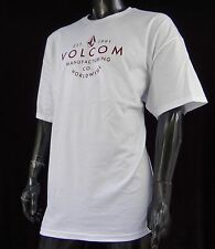 Volcom Surfing Team Classic Slim WD Wide White Mens T shirt Size 2XLarge VLC-51